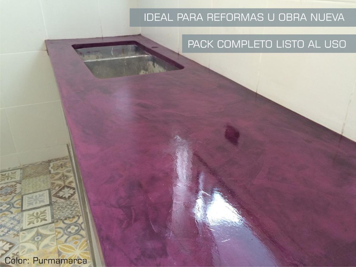 Microcemento Baos Mesadas C Base Y Laca 5m2 Microdesign