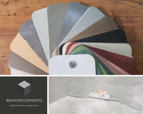 microcemento cemento alisado aplicación y materiales m2
