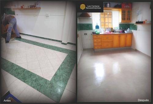 microcemento cemento alisado aplicado pisos y paredes x mt2