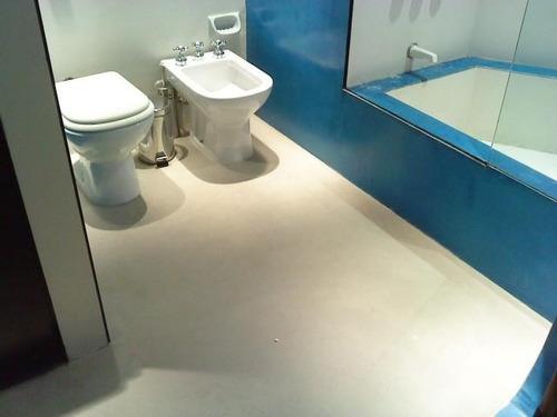 microcemento-cemento alisado-materiales y mano de obra