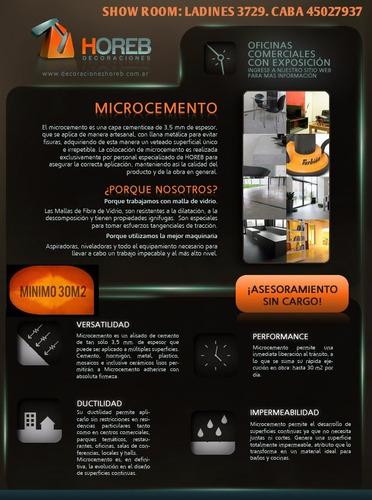 microcemento con malla. material y mano de obra