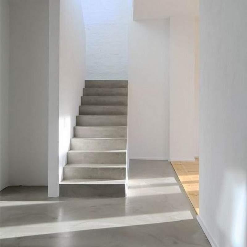 escalera mesada micropiso cemento alisado m