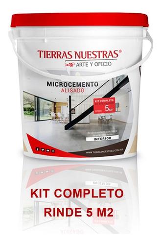 microcemento micropiso interior cemento alisado kit interior