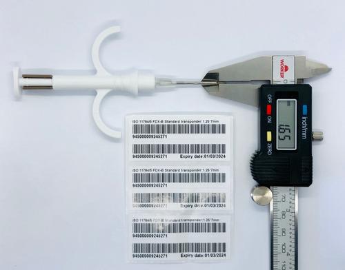 microchip animal - 1,25/7mm
