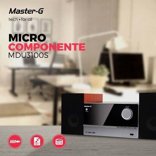 microcomponente bluetooth master g mdu3100