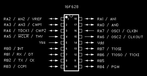 microcontrolador 16f628