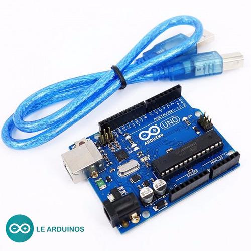 microcontrolador arduino uno r3 rev3 atmega328 + cabo usb