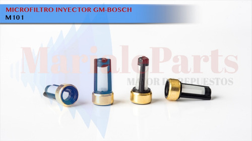 microfiltro universal tipo bosch inyector gasolina 100 unds