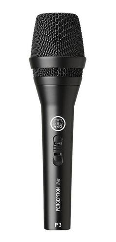 microfone akg p3 s dinâmico preto
