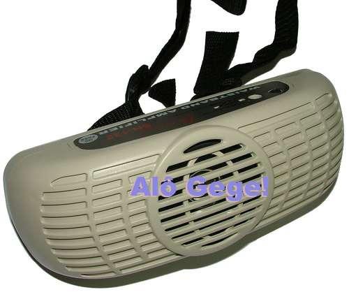 microfone amplificado p/ professor, palestrante sh-122 - 7 w