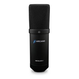 Microfone Arcano Am-black-1 Condensador Preto