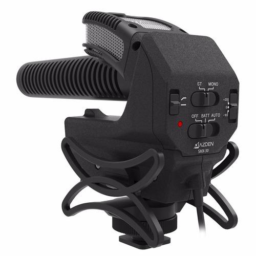 microfone azden smx-30 shotgun vídeo + nf + dslr smx 30