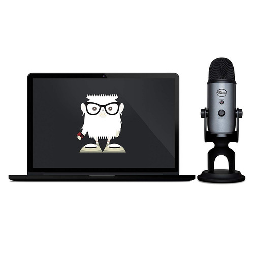microfone blue yeti cinza lunar condensador usb - youtubers