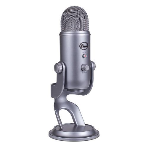 microfone blue yeti cool gray condensador usb - youtubers