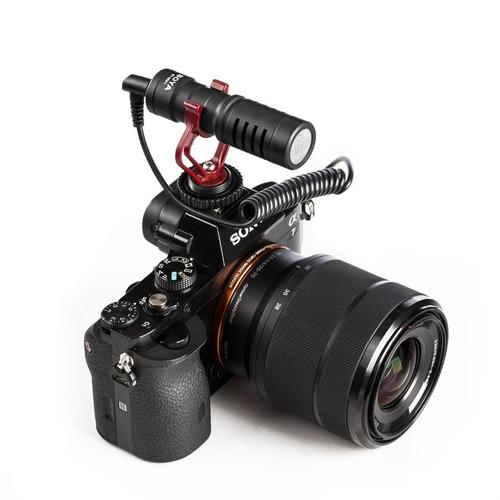 microfone boya by-mm1 para smartphone, câmera ou pc