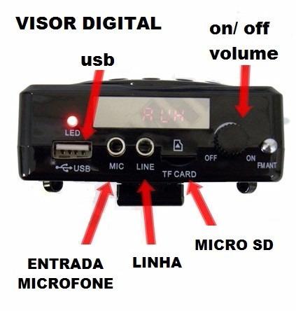 microfone c/ caixa para professor aulas palestra amplificado