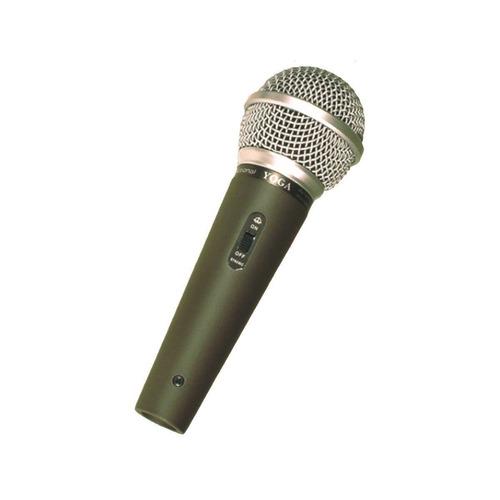 microfone c/ fio de mão dinâmico - dm 58 s yoga
