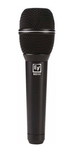 microfone c/ fio de mão dinâmico nd 86 - electro-voice