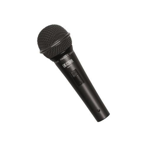 microfone c/ fio de mão dinâmico - pro 1.1 csr