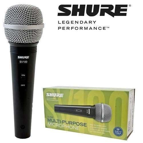 microfone c/ fio shure sv-100