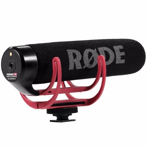 microfone camera rode go shotgun canon nikon sony dslr video