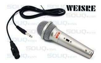microfone com fio profissional dm-501