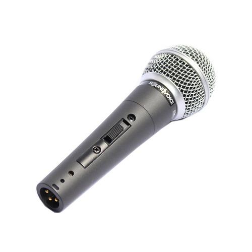 microfone com fio sm58s com chave soundvoice