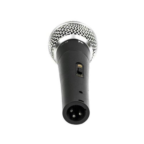 microfone com fio voxtron voxpz58 c/ chave liga/desliga