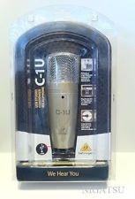 microfone condensador behringer c1 usb