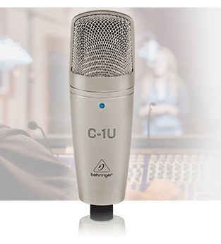 microfone condensador c1 u behringer usb c1-u c1u estudio