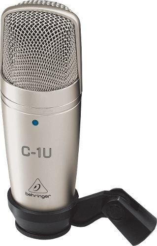 microfone condensador c1 u behringer usb c1-u estudiopodcast