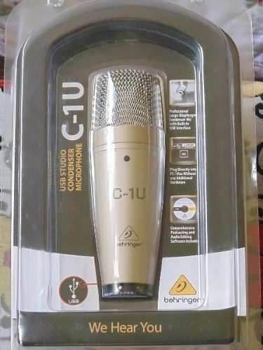 microfone condensador c1-u behringer usb c1u frete grátis