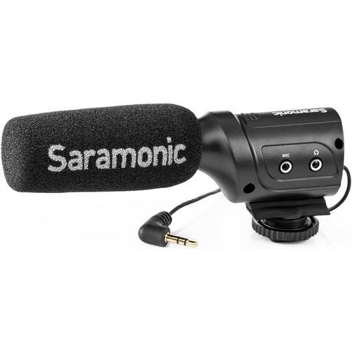 microfone condensador mini direcional saramonic sr-m3.