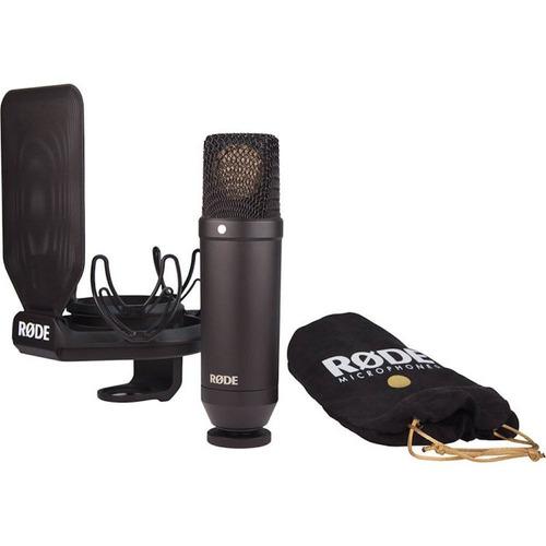 microfone condensador rode nt1 - kit completo - nf e gtia