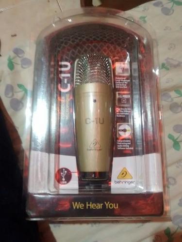 microfone condensador usb behringer c1-u