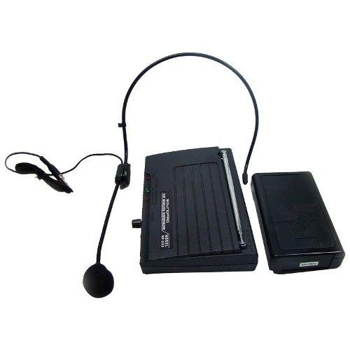 microfone de cabeça auricular jupiter e lapela sem fio