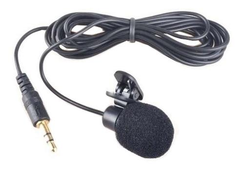 microfone de lapela + adaptador p2 p3 celular câmera tripé