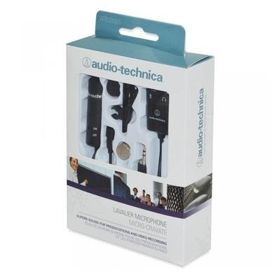 microfone de lapela audio technica atr-3350is p/smartphones