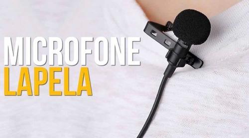 microfone de lapela mini knup kp-911 mini 3,5mm