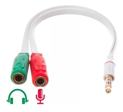 microfone de lapela stereo para youtubers + adaptador p2  p3