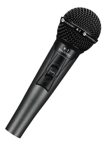 microfone de mão com fio kadosh k-1 dinamico
