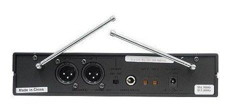 microfone de mão profissional duplo sem fio skp uhf 261
