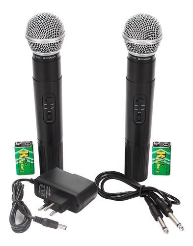 microfone digital sem fio duplo wireles uhf karaokê igreja