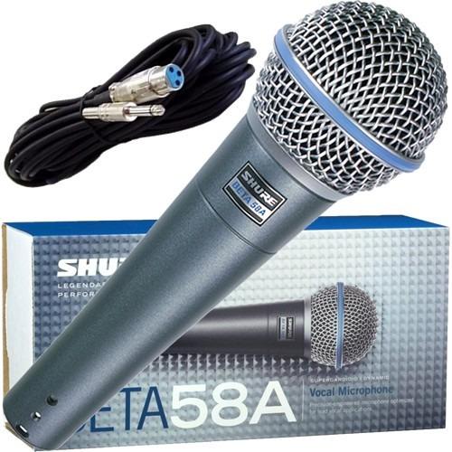 microfone dinâmico profissional shure beta58a sm58 original