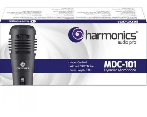 microfone dinâmico supercardióide cabo 3m mdc101 harmonics