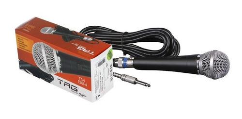 microfone dinâmico tagima tagsound tm584 + cabo 5m p10/xlr