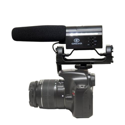 microfone direcional condensador gk-sm10 câmeras 12x s/juros