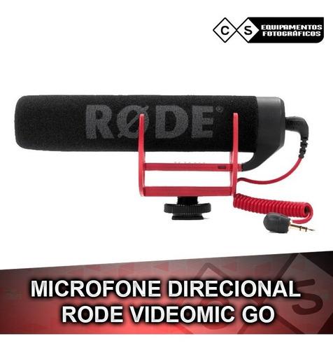 microfone direcional rode videomic go- dslr sony canon nikon