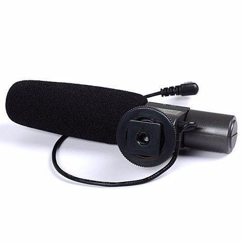 microfone direcional sg-108 shotgun para sapata canon nikon