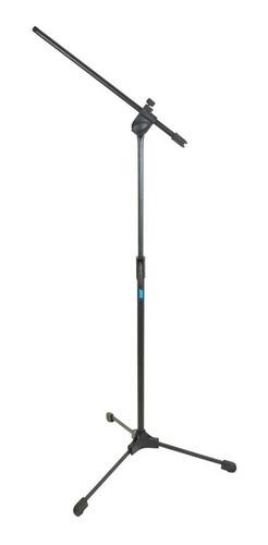 microfone direcional shotgun boom + cabo + pedestal suporte